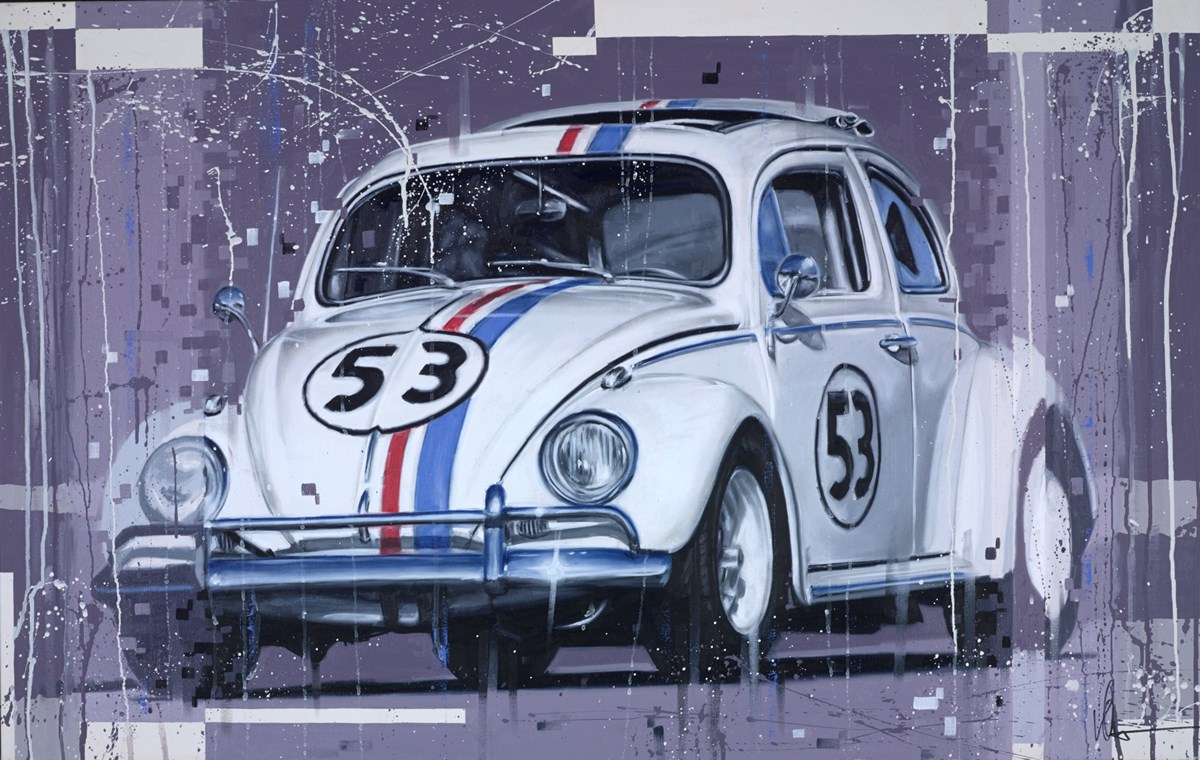 Herbie by kris hardy -  sized 44x28 inches. Available from Whitewall Galleries